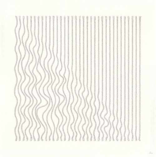 Diagonal Ripple 2 (38 x 38 cm) pencil on paper